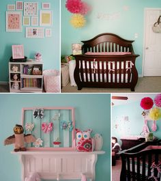 Love this little girl's nursery!