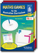 Maths Games for the Australian Curriculum. Operations and algebraic thinking, number and operations in Base Ten, number and operations - fractions for primary school students.