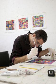 Felipe Meyenberg. #artist #painter #abstract #artistinresidence #sparkboxstudio