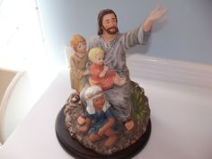 Vintage Homco Holy Family Figurine Nativity Porcelain Home Interiors Home Holy Family And