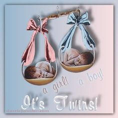 It's a boy and a girl, can't wait to meet them when they arrive :)