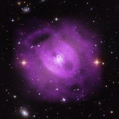 Eruptions from a supermassive #blackhole over 50 mil yrs have rearranged the cosmic landscape: http://go.nasa.gov/1IvBD2P