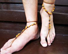 Men barefoot sandals | Etsy