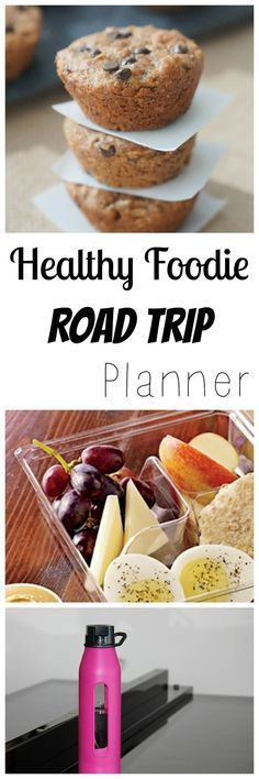 Healthy Foodie Road Trip Planner, Tips & Ideas including packing snacks, getting exercise on the road, healthy fast food and more.