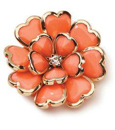 {styled} By Tori Spelling TM Glam-Pendant Flower Coral And Gold: {styled} By Tori Spelling TM: jewelry & beading: crafts: Shop | Joann.com