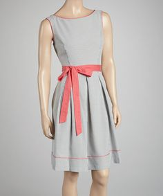 Take a look at this Jessica Howard Coral Stripe Seersucker Dress on zulily today!