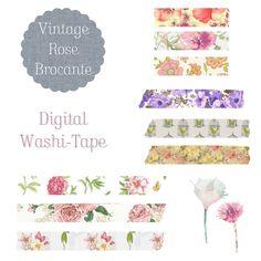 Digital Tape Floral Set 007 from Vintage Rose Brocante