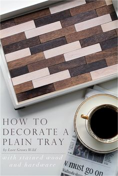 Learn how to take a simple wood tray from plain and boring to fun and fabulous with this easy tutorial! LoveGrowsWild.com |v