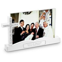 Communion, Confirmation and Baptism Frames Personalized Cross Float Frame
