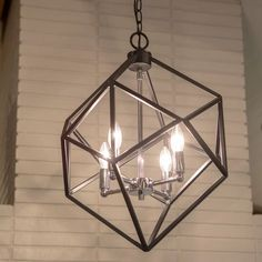 Shop for Alexa Metal Geometric Pendant. Get free delivery On EVERYTHING* Overstock - Your Online Ceiling Lighting Store! Pendant Light Fixtures, Pendant Lighting, Light Pendant, Room Lights, Ceiling Lights, Geometric Pendant Light, Overhead Lighting, Office Lighting, Transitional Lighting