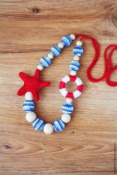 """Слингобусы ручной работы. Ярмарка Мастеров - ручная работа. Купить Слингобусы """"Морские"""" c морской звездой, слингобусы в морском стиле. Handmade."""