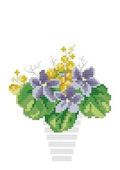 free chart for this potted flowers