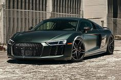 2017 Audi R8 Plus Coupe 2-Door 2017 Audi R8 V10 Plus - Green Camouflage Matte - Vossen Forged Wheels