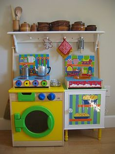 An Easy To Create Childu0027s Kitchen.. Fantastic Blog That I Follow! Http: