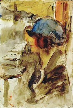 Vrouw met blauwe hoed, Londen – Kröller-Müller Museum
