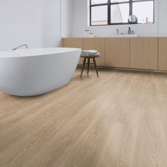 We offer a selection of waterproof flooring options that are available in a variety of stylish designs and finishes that make for an easy transition into any home. With material choices that include Acrylic, Laminate, LVT and PVC, we feel confident that w Types Of Wood Flooring, Solid Wood Flooring, Flooring Options, Laminate Flooring, Vinyl Flooring, Quickstep Laminate, Quick Step Flooring, Cork Wood, Home Decoracion