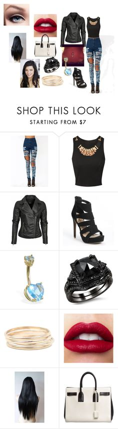 """Chapter 2"" by swimt0th3s3a ❤ liked on Polyvore featuring Jane Norman, Candie's, Catbird and Yves Saint Laurent"