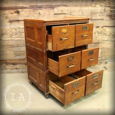 Antique Stackable Yawman and Erbe Tiger Oak Filing Cabinet ...
