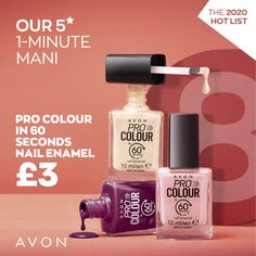 60 Seconds, Avon, Nail Colors, It Works, Perfume Bottles, Lipstick, Cosmetics, Beauty, Campaign