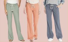 Cute Lounge Outfits, Warm Weather Outfits, Type Of Pants, Pull On Pants, Linen Pants, Types Of Shoes, Workout Pants, Casual Pants, Lounge Wear