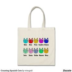 Counting Spanish Cats Tote Bag