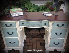 Antique Two-Toned Desk