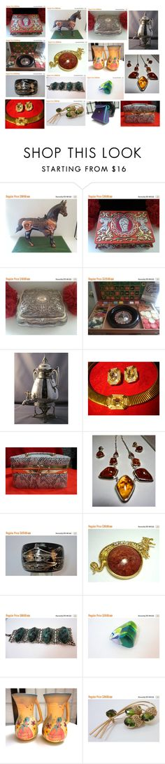 Vintage Gifts for any taste! by luckystanlv on Polyvore featuring Carolee, Sarah Coventry and vintage