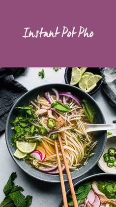 Soup Recipes, Vegetarian Recipes, Pho Soup Recipe Easy, Cooking Recipes, Healthy Recipes, Instant Pot Dinner Recipes, Instant Pot Pho Recipe, Asian Soup, Asian Beef