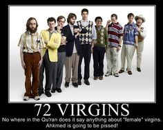 72 virgin dating service meaning and synonym
