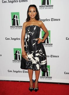 the lovely kerry washington in Monique Lhuillier