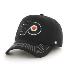 Philadelphia Flyers Game Time Closer Black 47 Brand Stretch Fit Hat