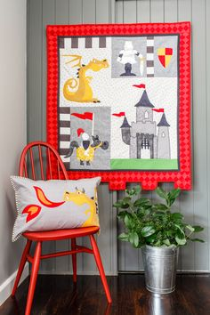 A Knight's Tale - this bright knights and dragons quilt was published in Australian Homespun magazine's October 2013 issue. (Designed by Claire Turpin)