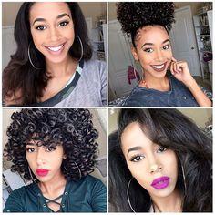 Lindah 😍👸💕 @markele.dejanaeCom o sem cachos?! #itgirlsbrazil #semprepronta #cachospoderosos #toppoderosa #poderdevantagens #vidacacheada #cachos #transiçãocapilar #soltaoblack #make #makeup #inspiração #selfie #smile #love #follow #linda #instablog #night #boanoite ❤
