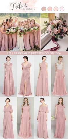 Fashion trending wedding color inspiration with mix and match bridesmaid dresses in dusty rose Photography @merrycharacterphotography Junior Bridesmaids, Wedding Bridesmaid Dresses, Wedding Trends, Wedding Ideas, Rose Photography, Dusty Rose, Color Inspiration, Wedding Colors, Wedding Photos