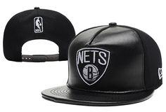NBA Brooklyn Nets Snapback Hats Skin Black