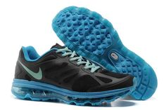 5092068b242c2 Discover the 488124 002 Women Nike Air Max 2012 Black Blue Chill Photo Blue  New Release group at Pumaslides. Shop 488124 002 Women Nike Air Max 2012  Black ...