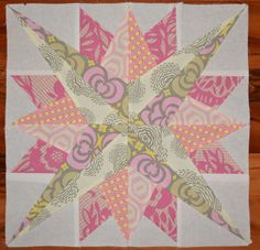 Pretty Mariner's Compass block  by shecanquilt, via Flickr
