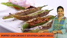 POPPEY AND COCONUT STUFFED LARGE CHILLI - Mrs Vahchef Sugar Craft, Pickles, Recipies, Coconut, Cooking, Ethnic Recipes, Youtube, Food, Recipes