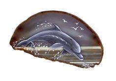 Dolphin on Agate by Nevuela on DeviantArt