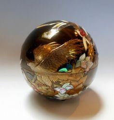 Japanese Lacquer Box, Yggdrasil, by Yuji Okada, at www.Jcollector.com