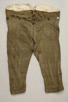 Breeches, early C., Italian, Made of silk Italian Outfits, Italian Fashion, Antique Clothing, Historical Clothing, Men's Clothing, Tweed Pants, Trousers, Young Blood, Period Outfit