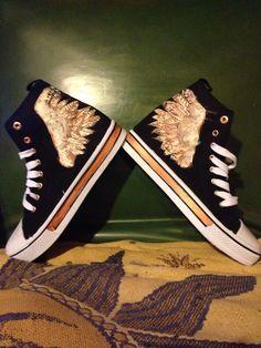 DIY Hermes converse shoes
