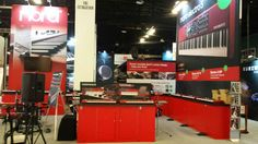 American Music and Sound 100x50 booth at NAMM 2015 www.xibeo.com 805.604.4409