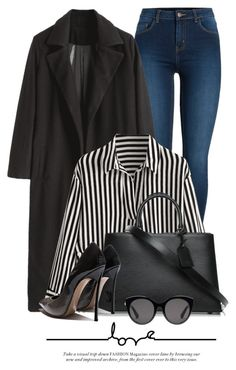 """Stripes"" by monmondefou ❤ liked on Polyvore featuring Pieces, Louis Vuitton and Gucci"