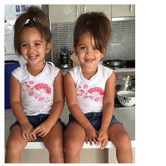 Isabella and Mia ❤️. Mixed twins.