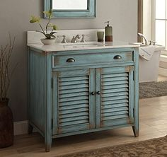 "36"" Cottage look Abbeville Bathroom Sink Vanity Cabinet - Model # CF28884BU Benton Collection http://www.amazon.com/dp/B002FWXUSU/ref=cm_sw_r_pi_dp_yCkQvb08SW4Z7"