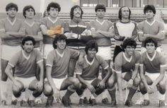 Deportes La Serena plantel profesional de 1986.  De pie: E. EGAÑA, V ALFARO, H BELLO, M IBY., D ALCAYAGA, R DE LEVA, ¿¿??   Agachados: J PAREDES, J MUÑOZ, E FIGUEROA, caupolican escobar, R MALUENDA.
