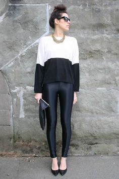 Black Disco Pants from American apparel