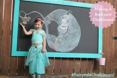 We are constantly on the lookout for projects and ideas to make our backyard more enticing to our four year old daughter.I have a friend who added a large chalkboard to her backyard and I thought, that's exactly what our yard needs! My daughter loves to draw and loves chalk - it seemed like a…