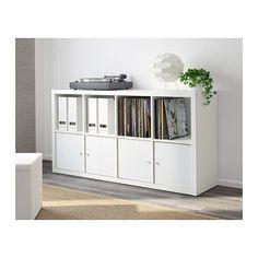 KALLAX Regal - weiß - IKEA Ohne Türen Es fehlen noch die Rollen